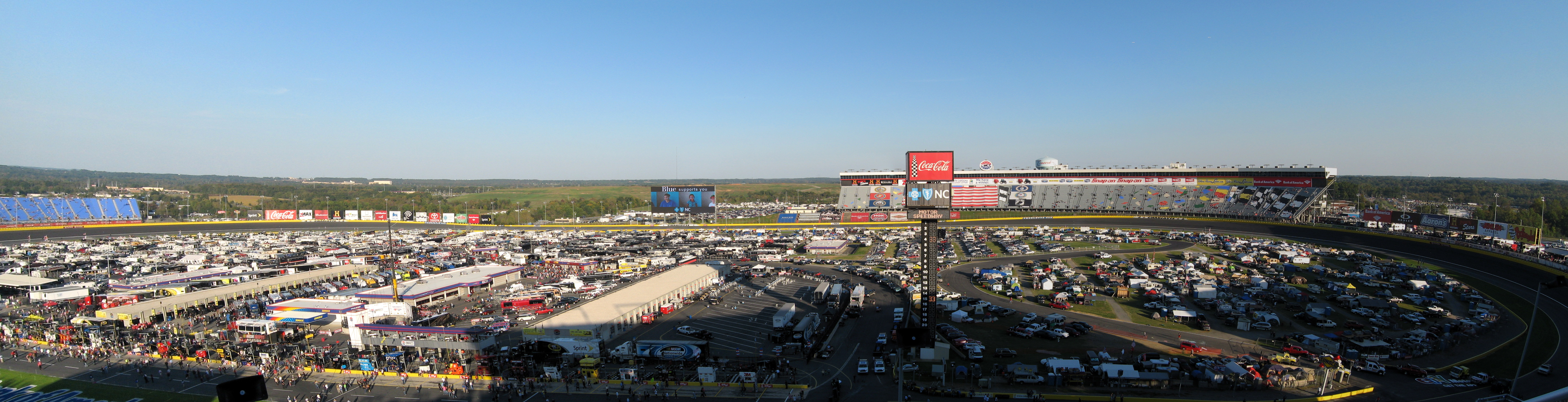 Charlotte Motor Speedway A Panoramic Shot Of Charlotte