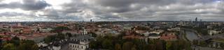 Image of  Gediminas Tower. panorama castle vilnius gediminastower