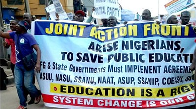 Demonstrations are taking place in Nigeria calling for educational reform. The colleges and university struck for over three months beginning in July 2013. by Pan-African News Wire File Photos