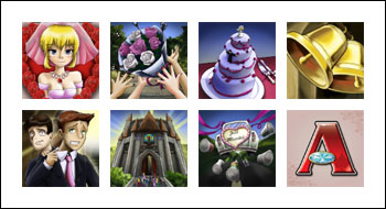 free Bridezilla slot game symbols
