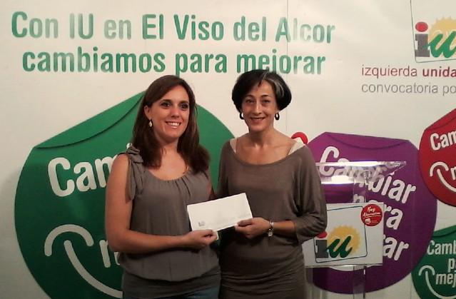 Entrega dinero Residencia San Pedro Nolasco