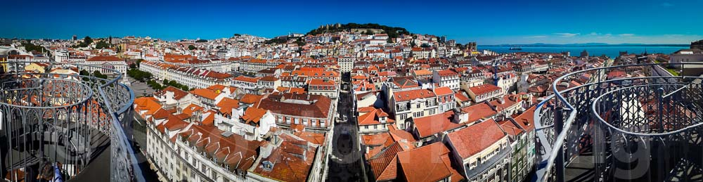 On Top of Santa Justa Lift @ Lisbon, Portugal