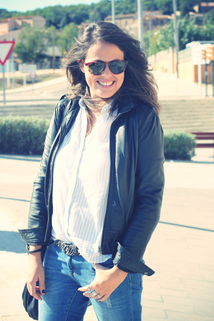 Look Leather jacket + booties - Monicositas