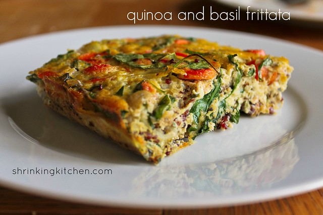 quinoa and basil frittata