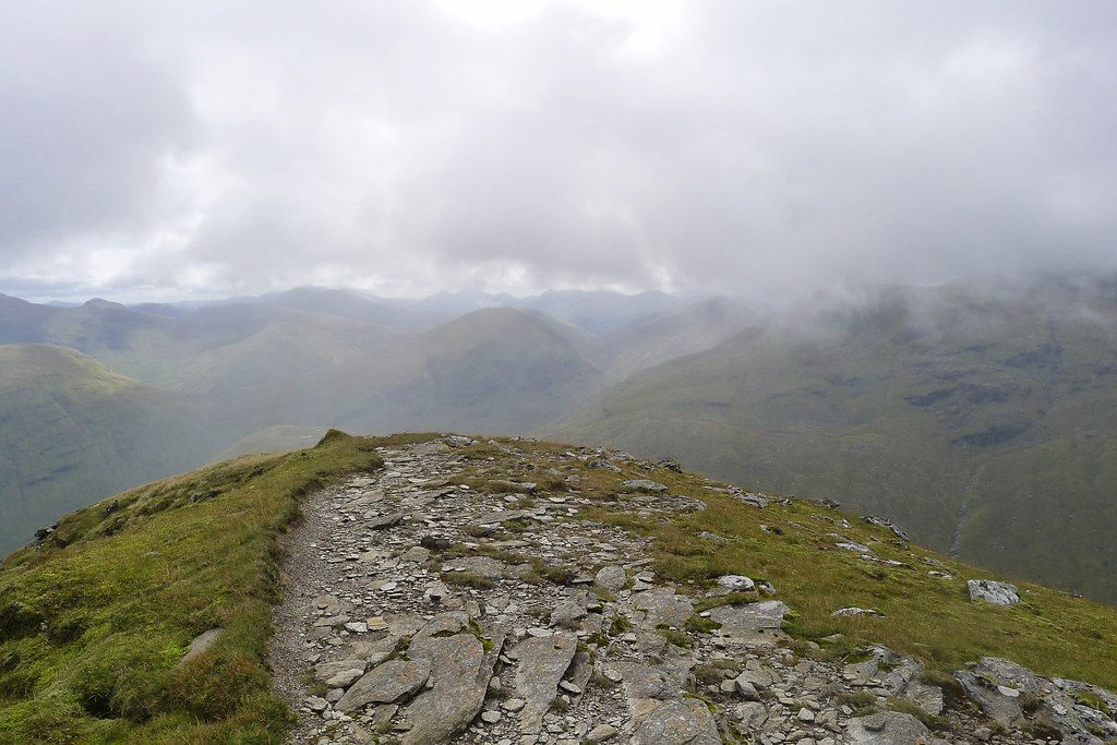 View east from the eastern top of Beinn an Dothaidh
