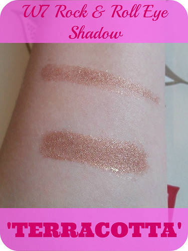 W7 Rock & Roll Eyeshadow Terracotta Swatch