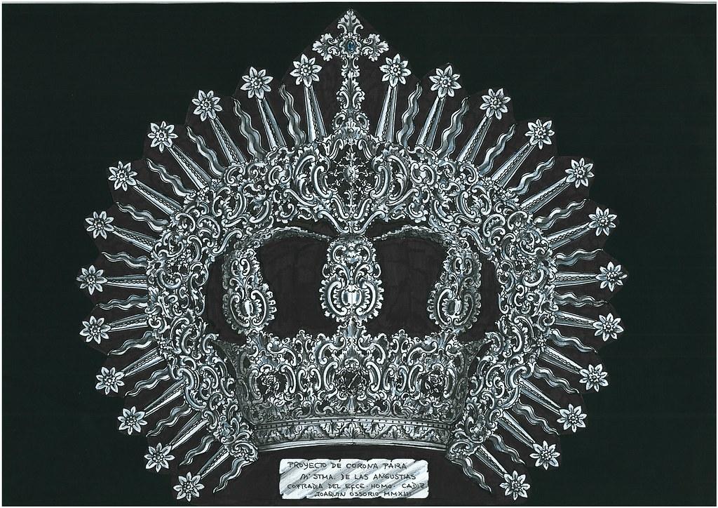 Proyecto de corona para María Santísima de las Angustias de Cádiz