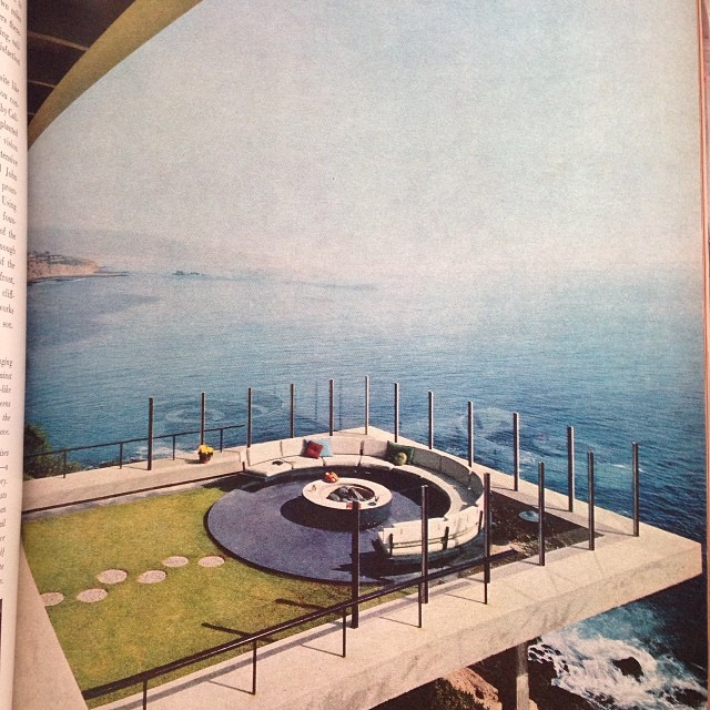 The Gade house, Laguna Beach, by Thornton Ladd and John Kelsey. On the page after those two raccoons, House & Garden, 1963. Photo by Ezra Stoller. #yesplease