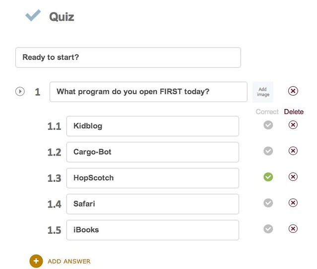 Quiz in NearPod