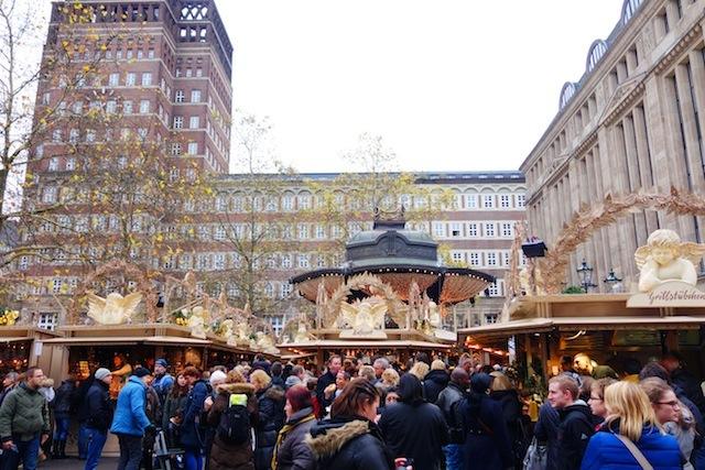 Dusseldorf Christmas market Heinrich-Heine-Platz