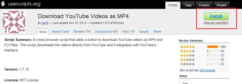 install youtube videos as mp4