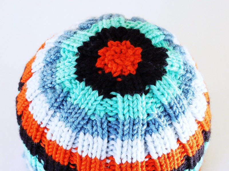 Skoufaki - free knitting pattern for baby / child hat by Alexandra Nycha