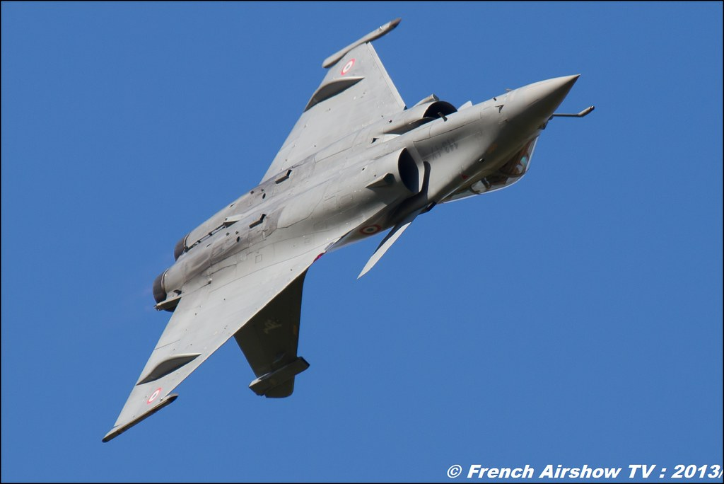 Rafale Solo Display 2013 ; 60 ans Patrouille de France , Meeting Aerien 2013