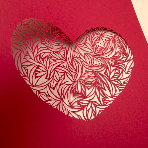 Heart paper cut work-4