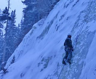 Steve Ice Climbing