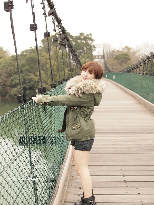 RUBON 軍綠色毛領大衣 (14)
