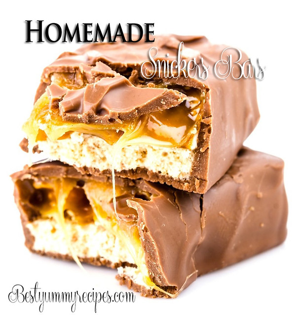 Homemade Snickers Bar