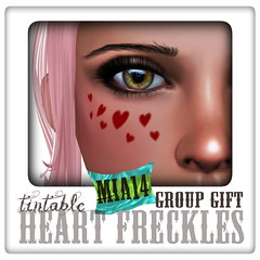 MIA14 Tintable Heart Freckles Group Gift Poster