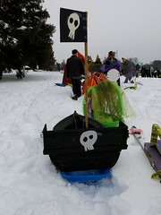 winter sport, winter, snow, sled,