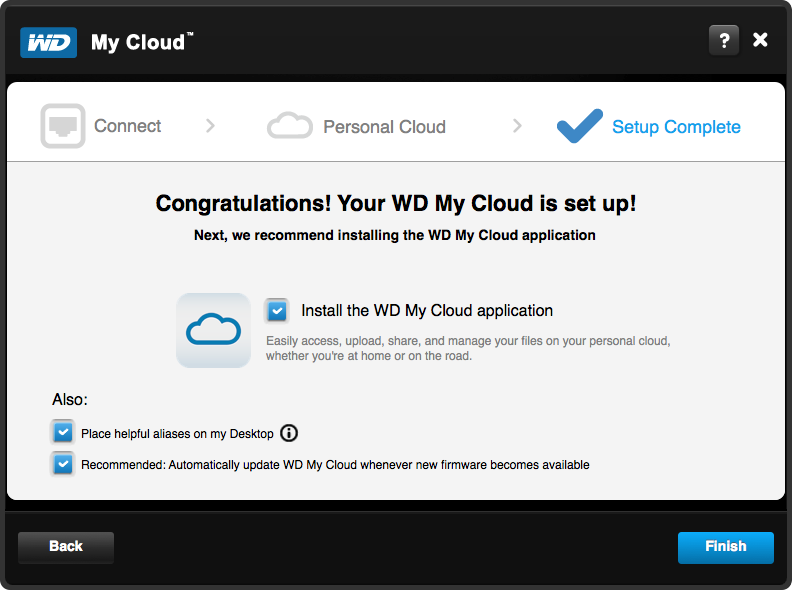 WD My Cloud Setup - Step 6
