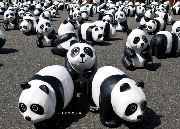 5 紙貓熊 1600貓熊之旅-台北 0224 台北市政府廣場展覽