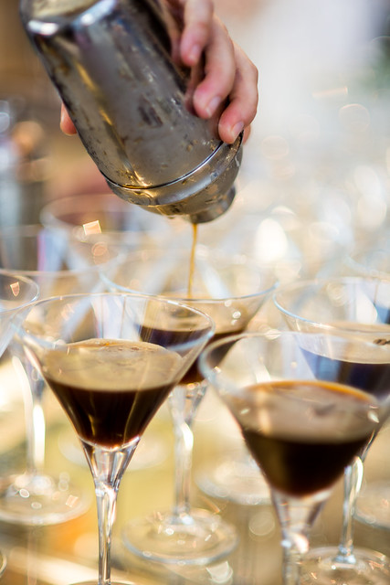 espresso martinis at Merlo's christening of the new Brambati Roaster and Cupping Room February 26 1