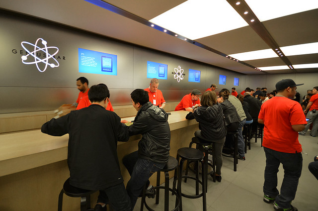 Genius Bar de la tienda Apple de Nueva York