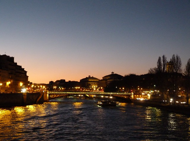 Night Seine bridge
