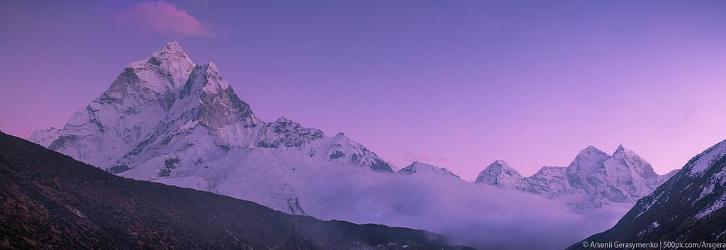 Ama Dablam Mt. Peak (6812m) at dawn