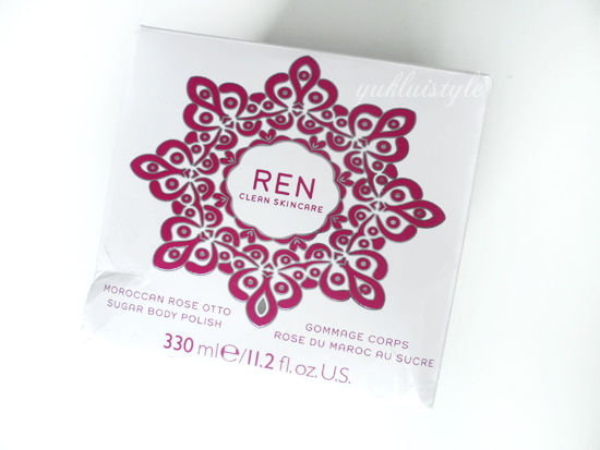 REN Moroccan Rose Otto Sugar Body Polish review and swatch