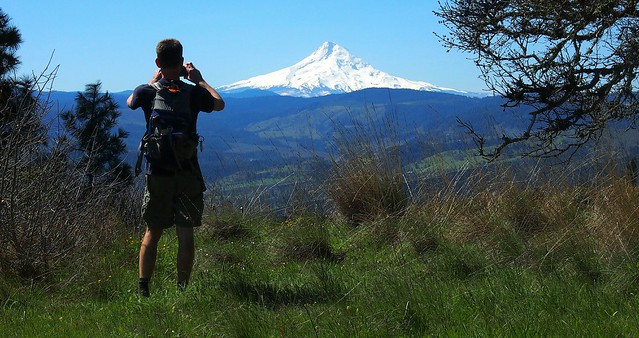 Tim Photographing Mt Hood