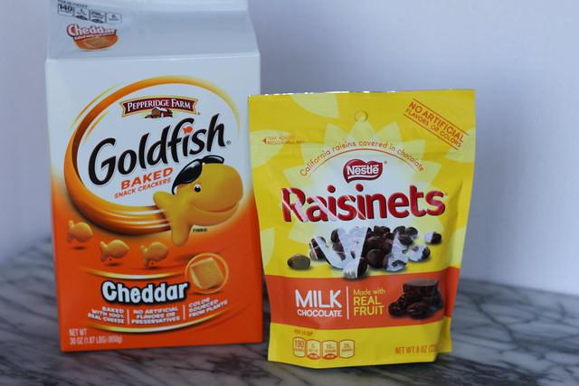 Goldfish and Raisinets