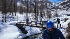 Zakończenie tury - zjazd doliną Val di Rheme.