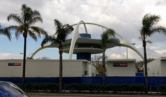 Palm Trees and LAX Theme Building