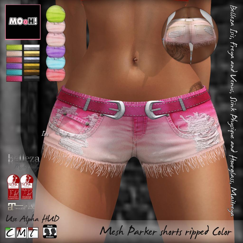 Parker shorts ripped color - SecondLifeHub.com