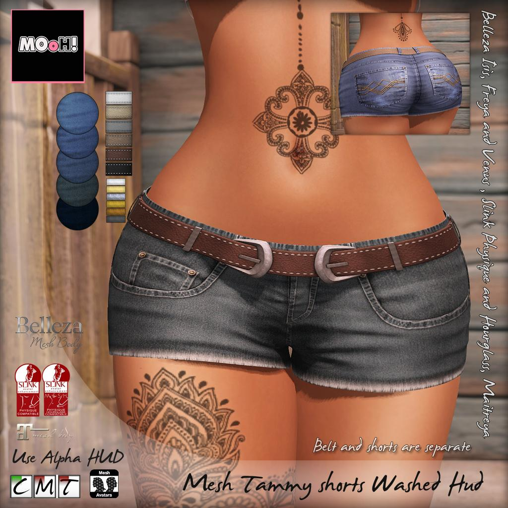 Tammy shorts washed hud - SecondLifeHub.com