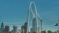 Dallas skyline through the #margrethunthillbridge #dallas #skyline #em10markii #olympus #40to150mm #texas