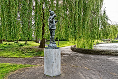 RICHARD CROSBIE MEMORIAL STATUE [RANELAGH GARDENS DUBLIN]-126873