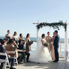 Yesterday was such a beautiful day for an ocean front wedding. Congratulations @misssunnylee and @andrewhansen10! Thank you for letting us be a part of your special day. ❤