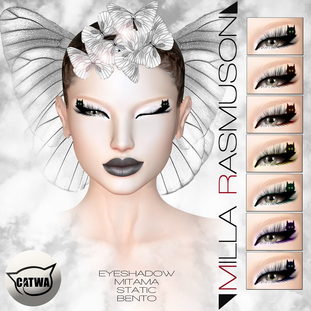 "MRM ""Mitama"" Eyes Makeup Static/ Bento Catwa Head - SecondLifeHub.com"