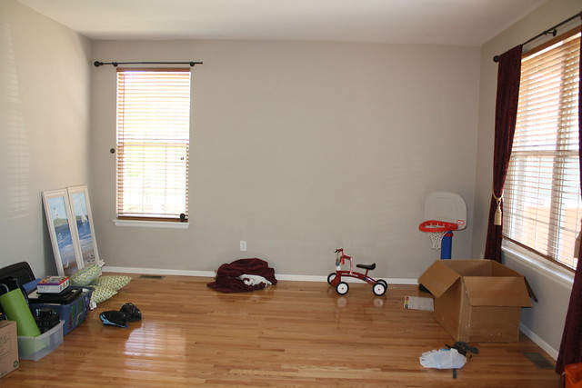 Charming No Significant Changes In Here Other Than Adding Our Furniture And Taking  Down The Red Drapes. Weu0027ll Paint This Room Soon, And Will Add Photos Above  The ...