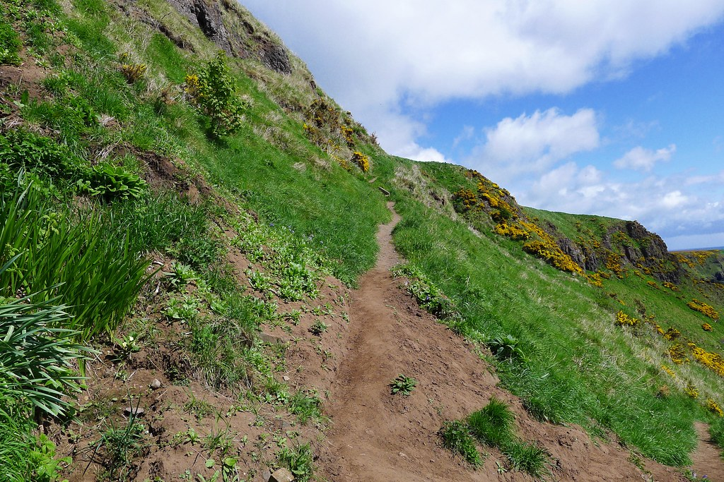 Cliff path at St Cyrus
