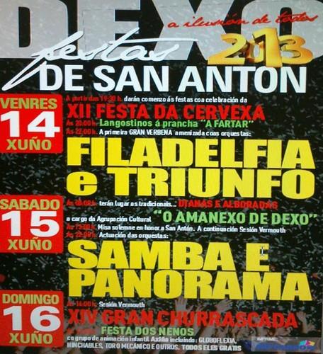 Oleiros 2013 - Festas de S. Antón en Dexo - cartel