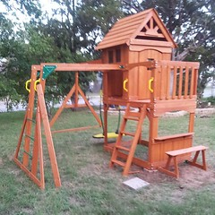 playhouse, outdoor play equipment, public space, playground,