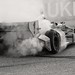 Ryan Hunter-Reay celebrates with a burnout in Milwaukee