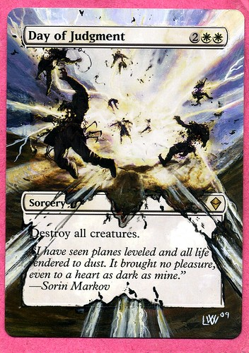 Day of Judgment altered art magic the gathering altered art magic mtg art