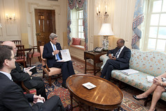 Secretary Kerry Meets With MCC CEO Yohannes