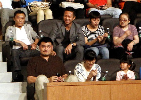 June 14th, 2013 - Yao Ming attends the Artistry on Ice show in Shanghai with his family