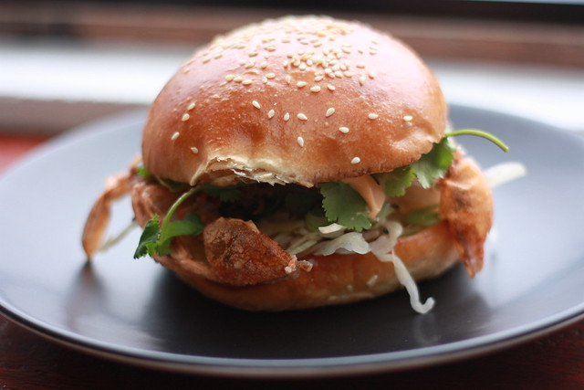 Soft Shell Crab burger at Hammer and Tong 412 | Flickr - Photo Sharing ...