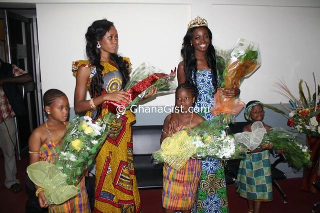 Miss World 2012 Wen Xia arrives in Ghana